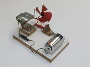 modelo de motor elétrico com ventoinha