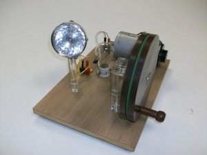 gerador com lâmpada incandescente